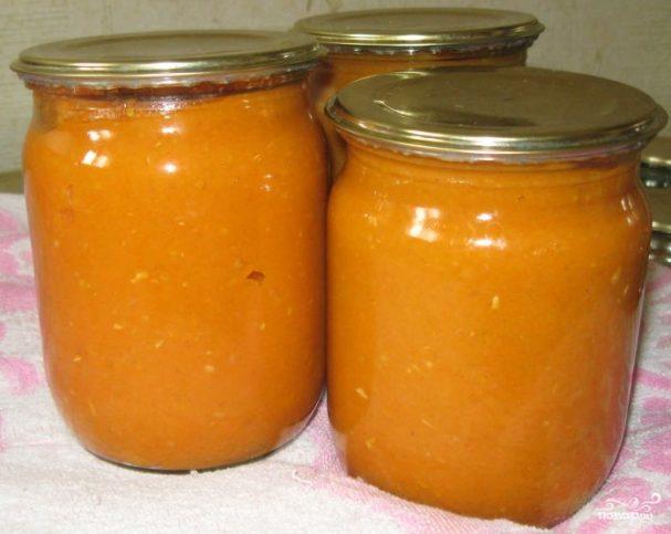 Кабачковая икра без томатной пасты на зиму