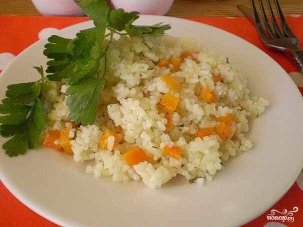 Рис с морковкой в мультиварке