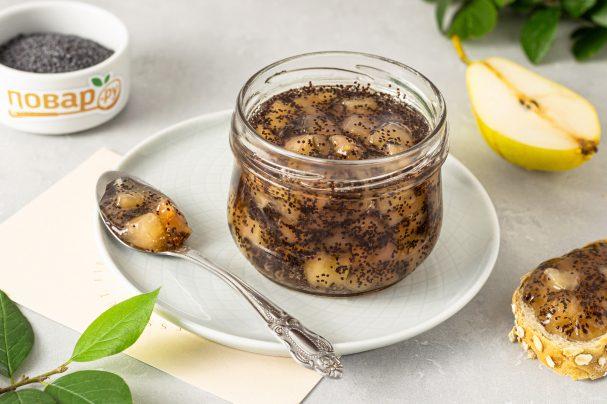 Варенье из груши с маком и ванилью