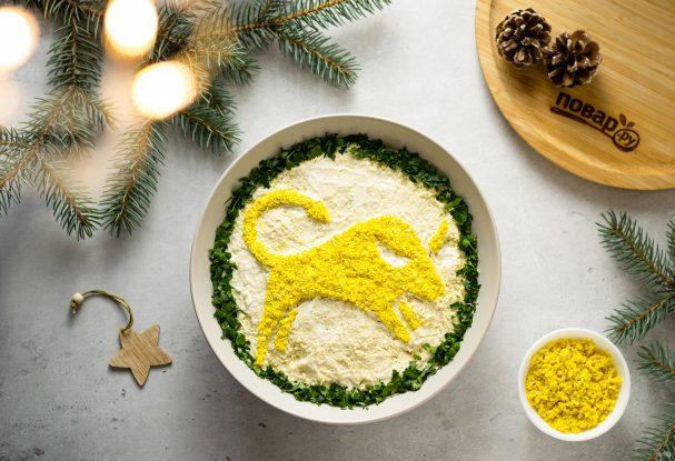 Вегетарианский салат на Новый год Быка
