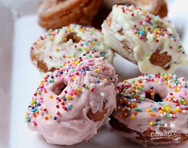Простой рецепт пончиков без дрожжей