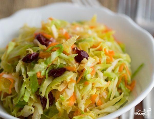 Капустный салат с клюквой