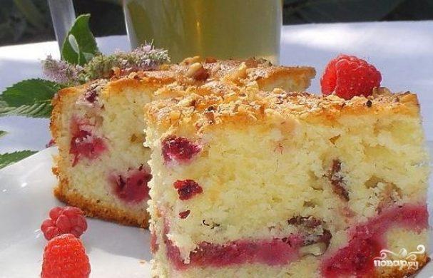 Малиновый пирог в мультиварке