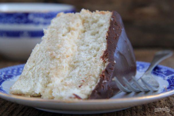 Сливочный торт с глазурью