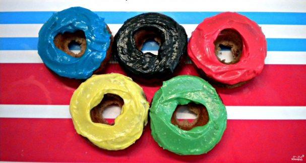 """Пончики """"Олимпийские кольца"""""""