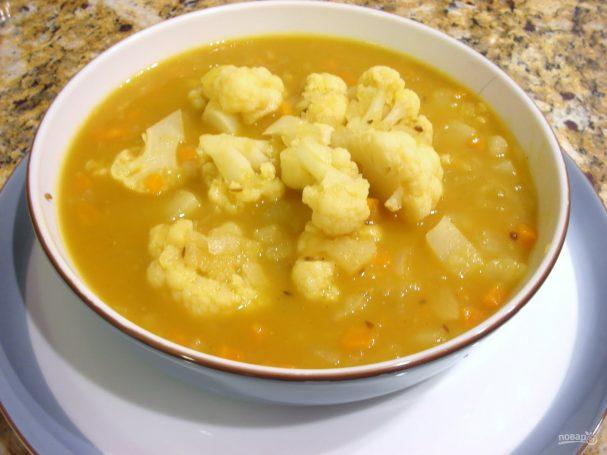 Овощной суп из цветной капусты