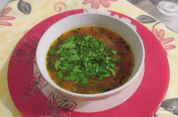 Суп со свининой без картошки