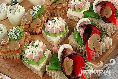 Бутерброды ассорти