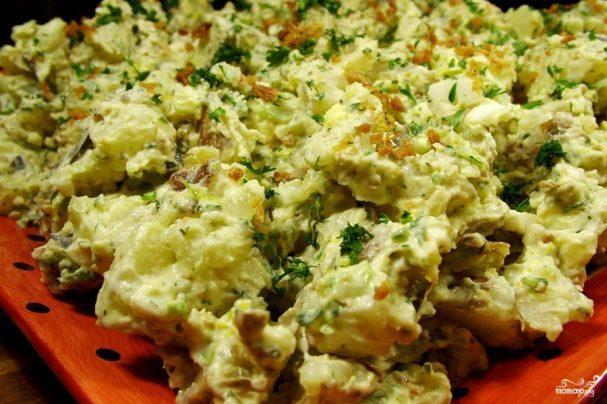 Картофельный салат с беконом