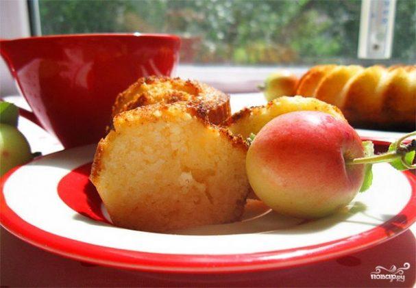 Маффины с творогом и яблоками