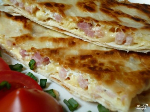 Омлет с сыром из лаваша рецепт с фото