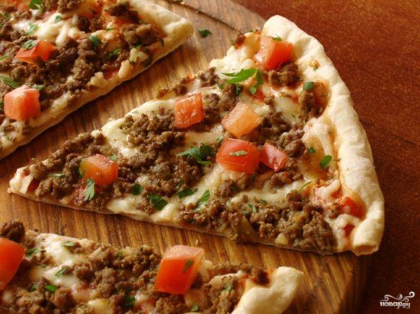 Пицца с мясным фаршем рецепт приготовления грибы лисички маринованные на зиму рецепты приготовления с фото