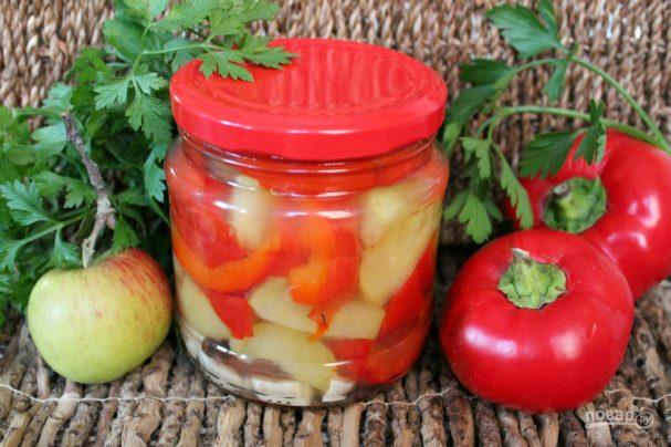 Перец с яблоками на зиму