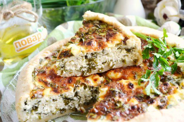 Весенний пирог с зеленью