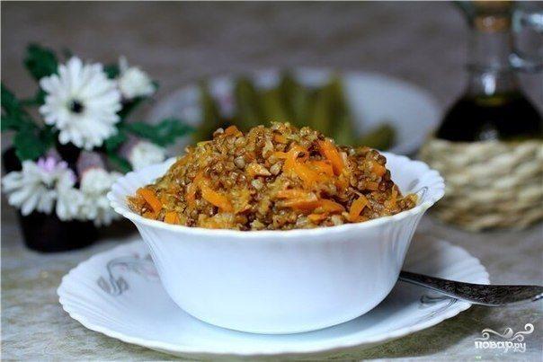 Гречка с морковью и луком