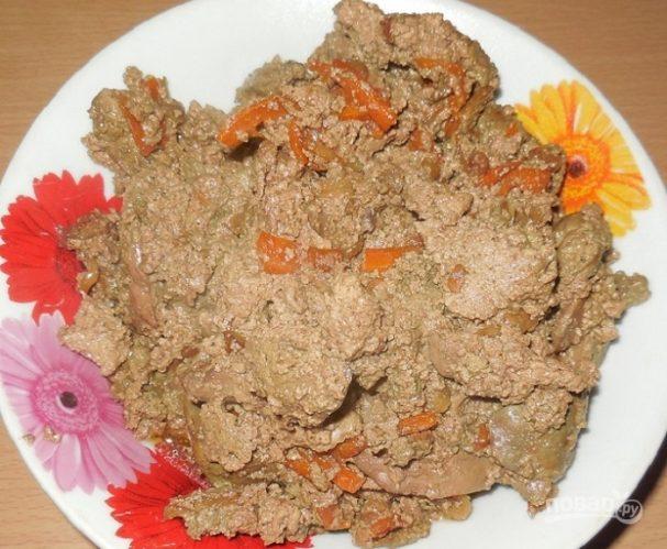 Печень со сметаной в мультиварке