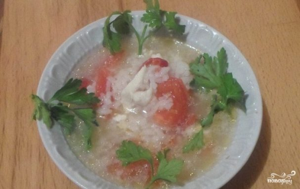 Куриный суп с помидорами