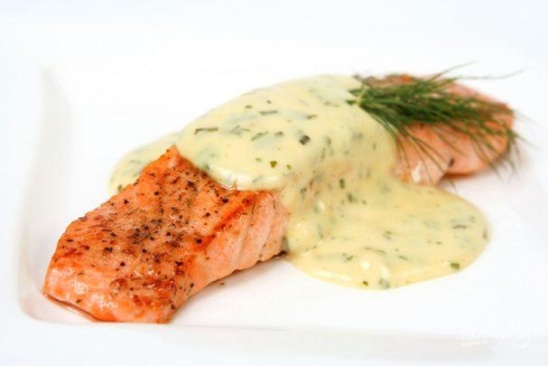 рецепт приготовления рыбы со сливочным соусом