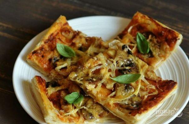 Пицца простая без дрожжей