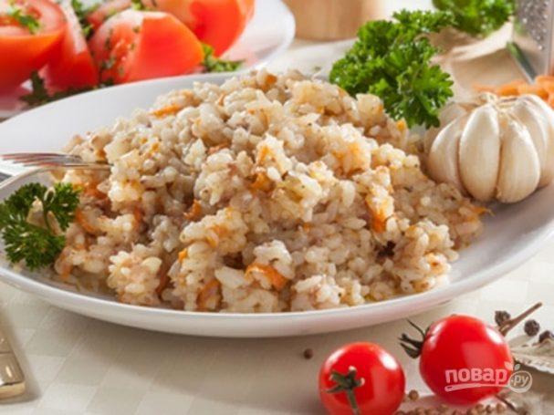 Рис с тушенкой