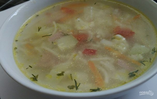 Суп на скорую руку с сосисками