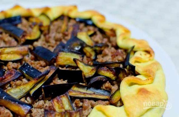 Пирог с баклажанами и мясом