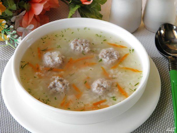Суп с фрикадельками без картошки