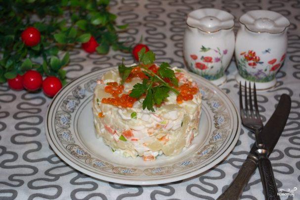 """Салат """"Уральские самоцветы"""""""