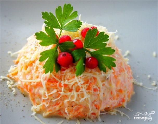 Морковь с сыром