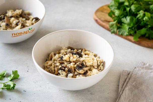 Рисовая каша с грибами