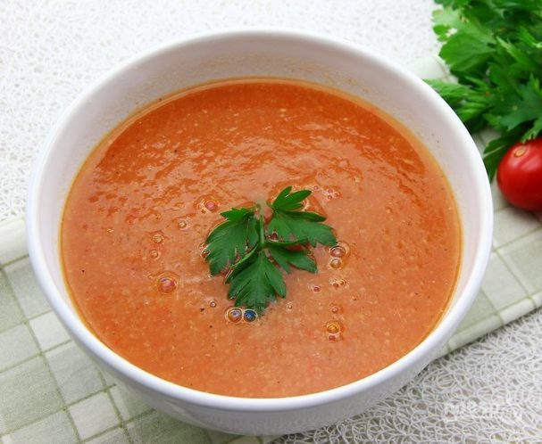 Овощной суп с имбирем