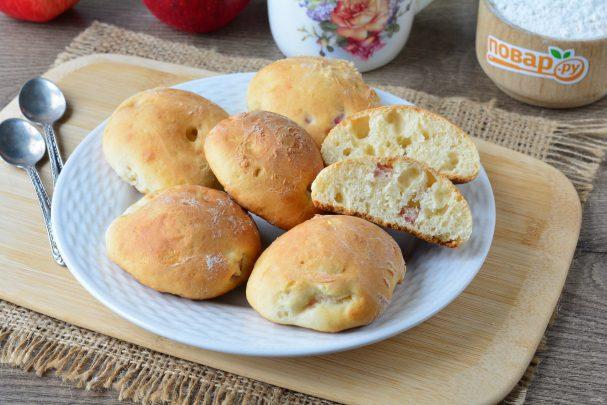 Печенье на кефире с яблоками