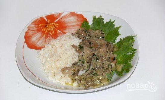 Степной гриб со сметаной
