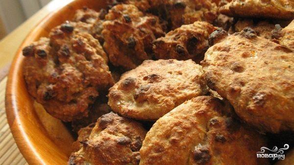 Овсяное печенье без масла