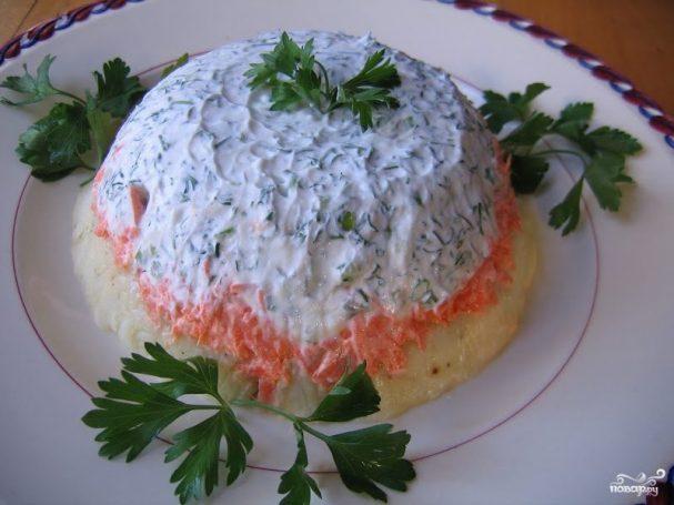Слоеный картофельный салат
