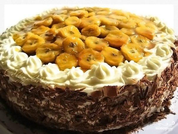 Классический шоколадно-банановый торт