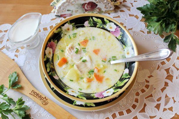 Суп из трески со сливками