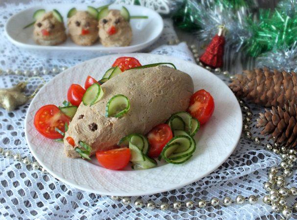 Куриный паштет в виде Крысы на Новый год