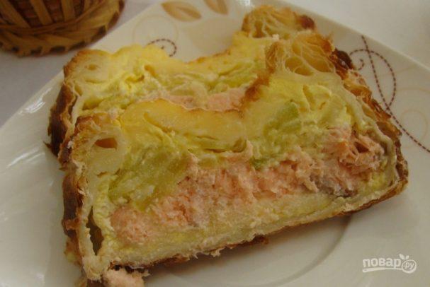 Пирог из семги