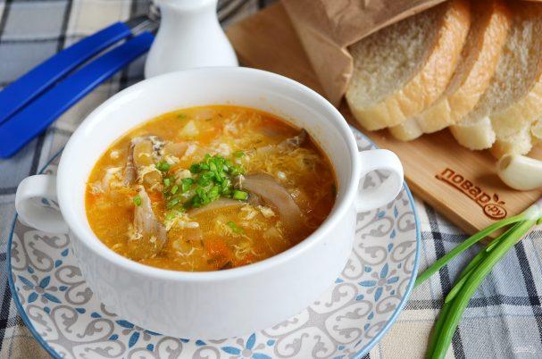 как приготовить грибно рисовый суп