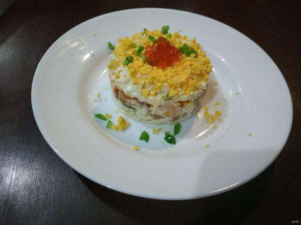 Слоеный салат с апельсином
