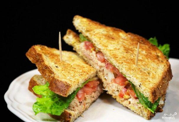 Сэндвичи с салатом из тунца