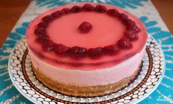 торт без выпечки из овсяного печенья