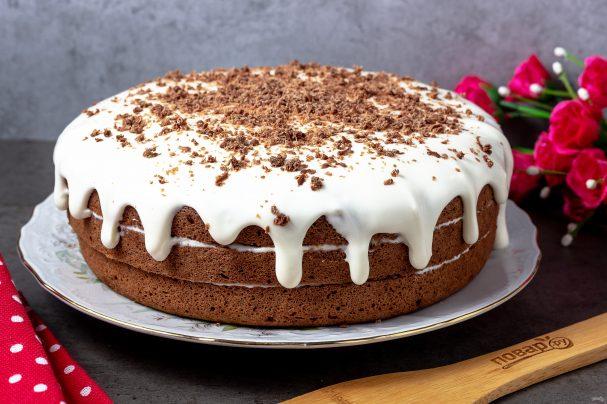 Густой шоколадный крем на твороге за 7 минут! Держит форму ... | 404x607