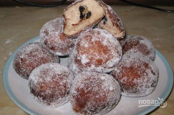 Пончики со смородиной
