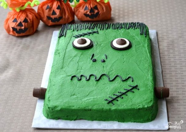 """Торт """"Франкенштейн"""" на Хэллоуин"""