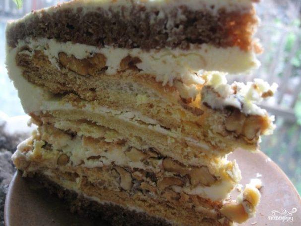 рецепт торта с безе и бисквитом