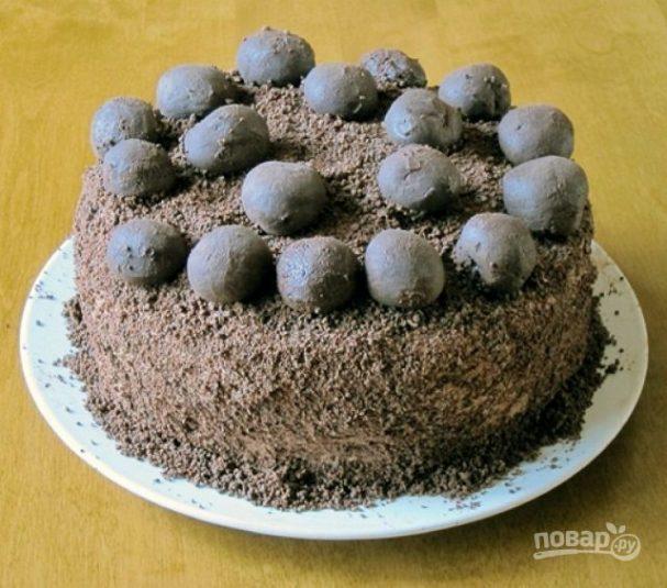 """Торт """"Трюфельный сметанник"""""""