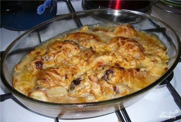 Мясо по-французски из куриных ножек