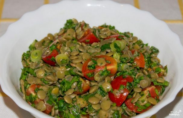 салат из чечевицы рецепт